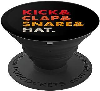 Kick Clap Snare Hat Vintage Analog Drum Synth Producer Nerd PopSockets Agarre y Soporte para Teléfonos y Tabletas