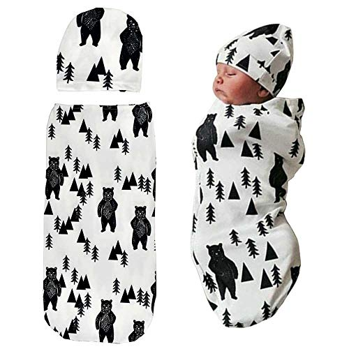 Top swaddle blanket and hat for 2021