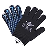 3 x Powcog Nylon Safety Gripper Work Gloves - Blue with PVC Polka Dots - MultiFit