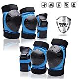 Protective Gear Set forYouth/Adult Knee Pads Elbow Pads Wrist Guards for Skateboarding Roller Skating...