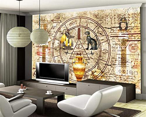 Leekkoka Fondo de pantalla Mural Decoración Del Hogar Gran Sala De Estar Dormitorio Papel Tapiz Retro Pared Egipcio Mural 3D Tv Fondo Mural 3D Papel Tapiz