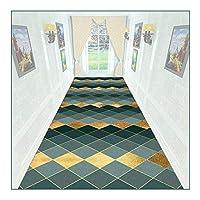 ZEMIN 廊下敷きカーペット、ソフト廊下カーペット、リビングルームキッチンベッドルームベッドサイド用の滑り止めウェアラブル装飾ラグパッド、簡単にメンテナンス (Color : A, Size : 0.9mx10m)