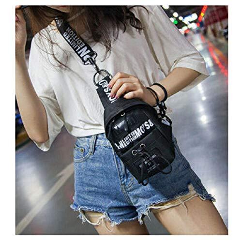 Beibaobao Nuova borsa da corsa Moda Donna Confezione Sport Marsupio Tasca portamonete Tasche per cintura Tasca per cellulare Mini Mini Messenger-nero_CINA