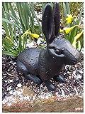 charning Große Gusseisen Kaninchen Skulptur Elegant
