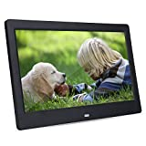 LED Photo Frame, Smart Digital Picture Frame, HD Digital Frame10 Inch HD Screen Digital Movie Photo Frame Calendar Alarm Clock MP3/4 Movie Player with Controller Support Multiple Language 32G Memory