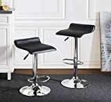 2L Lifestyle Pierson Air Lift Adjustable Bar Stools Set of 2, Small, Black