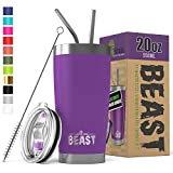 BEAST 20 oz. Tumbler Stainless Steel Vacuum Insulated Coffee Cup Double Wall Travel Flask (20 oz,...