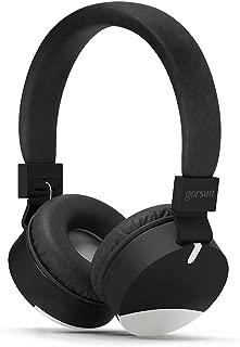 gorsun Wireless Kids Headphones with Microphone, Children's Wireless Bluetooth Headphones, Foldable Bluetooth Stereo Over-Ear Kids headsets-Black