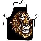 Myrdora Grembiuli da cucina Fire Lion Head per adulti