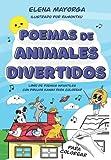 Poemas de animales divertidos: Libro de poemas infantiles con dibujos kawaii para colorear...