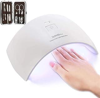 Lámpara LED Uñas UV 36W CompraFun Secador de Uñas Profesional Luz Doble Sensor Automático Temporizador 30s y 60s Uso en...
