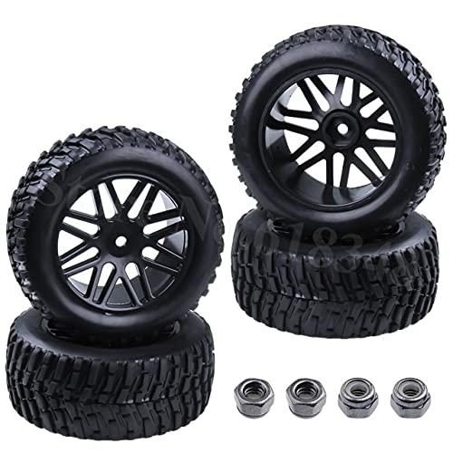 Accesorios de juguete Neumáticos y llantas de camión de carrera corta RC de 4 piezas de 2,2 pulgadas, buje hexagonal de 12 mm para 1/10 HSP Rally Racing DESTRIER Redcat Vortex SS ( Color : Type 1415 )