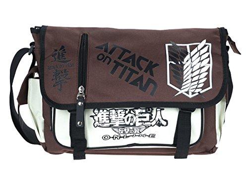 CoolChange Attack on Titan Umhänge Tasche, Braun / Weiß