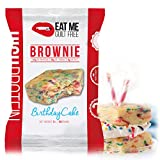 Eat Me Guilt Free Protein Brownie, Low Carb Healthy Snack or Dessert, 22g Protein, Birthday Cake (12 Count)