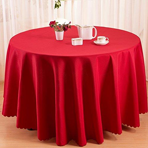 Nappes Nappe Ronde - Solide Couleur/Table à Manger/Cuisine/Nappe Hôtel/Fête Réunion Naturelle Peau Respirante Naturelle 160 Cm (Couleur : D, taille : Round -200cm)