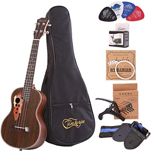 Paisen 26 inch Hawaii professional rosewood Tenor Ukulele send with Aquila strings tuner thick padded bag full set of accessories