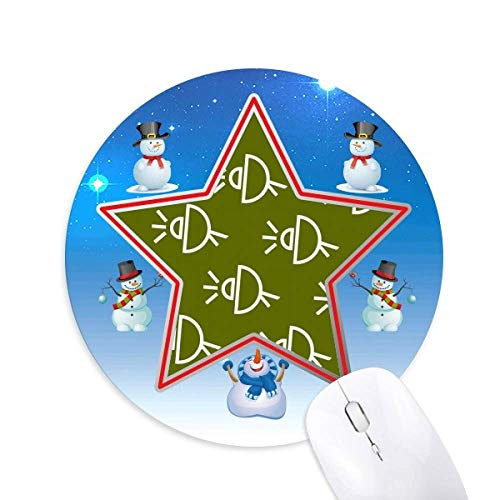 Satellitenantenne Seal Patterns Snowman Mouse Pad Round Star Mat