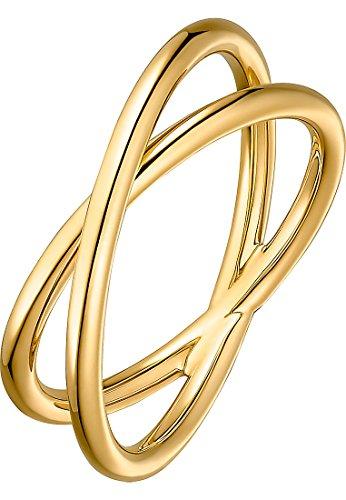 CHRIST Gold Damen-Damenring 375er Gelbgold 54 Gold 32004798