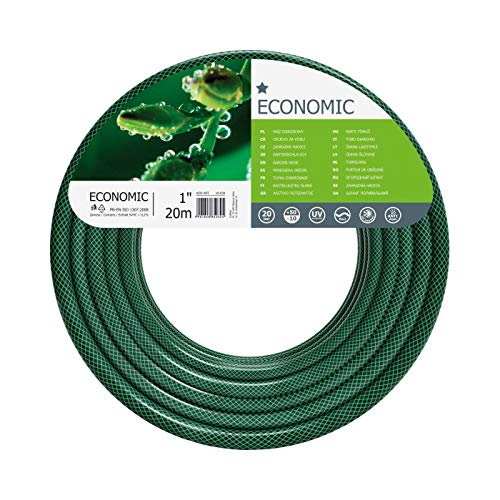 Cellfast Gartenschlauch ECONOMIC Elastisch und flexibel 3-lagiger Wasserschlauch aus Polyesterkreuzgewebe, UV-Strahlen- und Algenablagerungbeständig 20 bar Berstdruck, 20m, 1 zoll, 10- 030