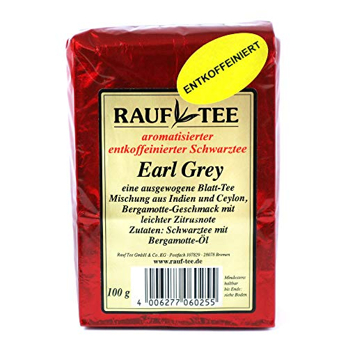 Rauf Te aromatisierter Schwarztee-Earl Grey entkoffeiniert - 2x100g