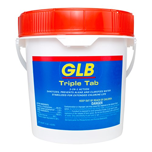 GLB Triple Tab Chlorinating Tablets - 10 lbs