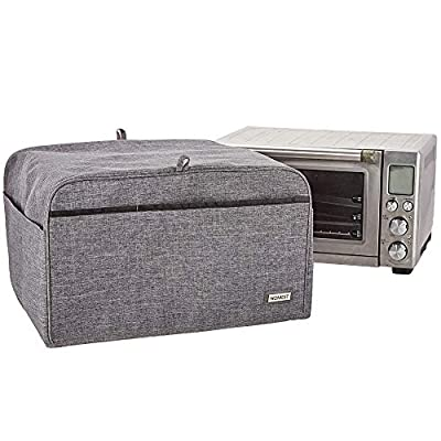 HOMEST Toaster Oven Dust Cover with Accessory Pockets Compatible with Breville Mini & Compact Smart Toaster Oven, Grey (Patent Pending)