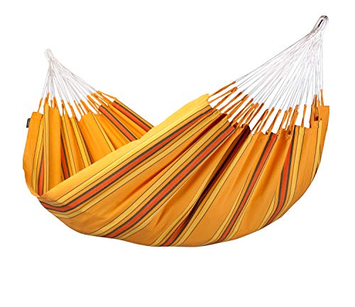 LA SIESTA Currambera Apricot - Tweepersoons klassieke hangmat katoen