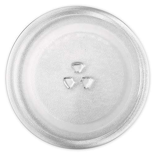 Saffire 9.6' / 24.5cm Small Glass Microwave Plate - Replacement Turntable Plate for Small Microwaves