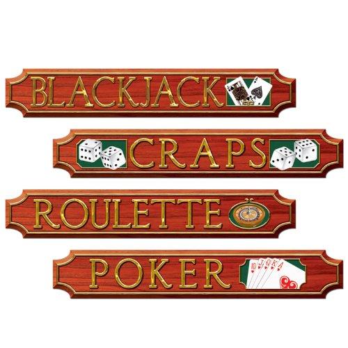 Beistle Casino, Aussparungen (4/Pkg)