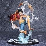 17Cm Anime Figure Toys, One Piece Monkey D. Luffy Figuarts, Zero Battle Ver. Rubber Rubber'S Red Hawk Pvc Action Figure Toys Gift