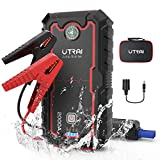 Car Jump Starter, 2000A Peak 22000mah Portable Battery Booster Charger(up to 8L Gas or 6.5L Diesel Engine), Phone Charger with Dual USB Ports, DC Output for Car Device and LED Flashlight
