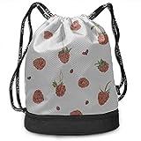 OKIJH Mochila Mochila de ocio Mochila con cordón Mochila multifuncional Bolsa de gimnasio Xl Gym Bag For Women Colorful Strawberry Ladybug Gym Drawstring Bags Backpack Sports String Bundle Backpack Fo