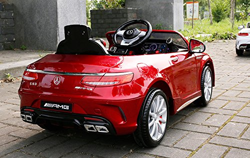 RC Auto kaufen Kinderauto Bild 6: Mercedes-Benz S63 AMG Cabriolet Ride-On 12V Elektro Kinderauto Kinderfahrzeug Kinder Elektroauto (ROT PAINT)*