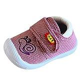 LANSKIRT Zapatos Primeros Pasos Zapatos Infantiles de Suela Suave Calzado para Recién Nacidos Zapatilla de Deporte Antideslizante - Rayas - Animales Caracol