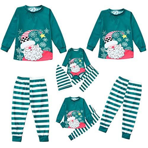 Borlai Navidad Familia Ropa a Juego Manga Larga Ropa de hogar papá mamá niños bebé Pijama Conjunto
