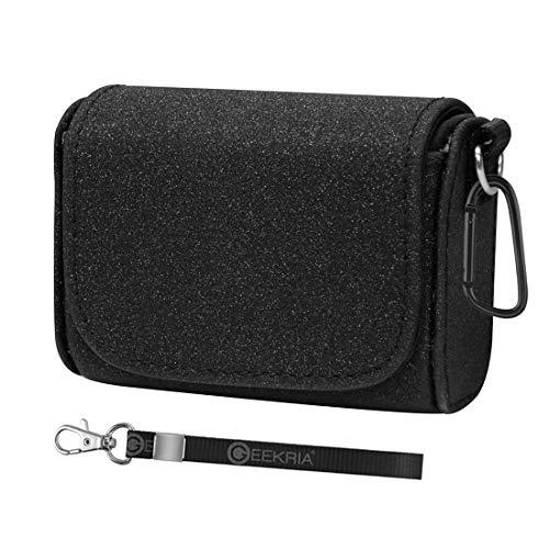 Geekria Earbuds Pouch Case voor Sony WF-1000XM3, echt draadloze ruisonderdrukking oortelefoon Travel Bag, WF1000XM3 draagbare oordopjes doos Pouch protector / WF1000XM3 B Mini opslag draagtas (zwart)