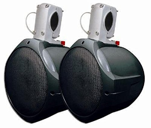"MCM Custom Audio 60-10031 8"" Marine Wakeboard Two-Way Speaker Pair - Black"