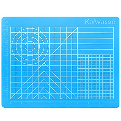 3D Pen Mat Silicone Large - 3D Pen Accessory 27 x 21.5 cm Translucent Blue Drawing Tool with Basic Templates for Children and Beginners
