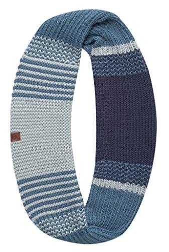 Buff Knitted Infinity borae écharpe, Mazarine Blue, One Size