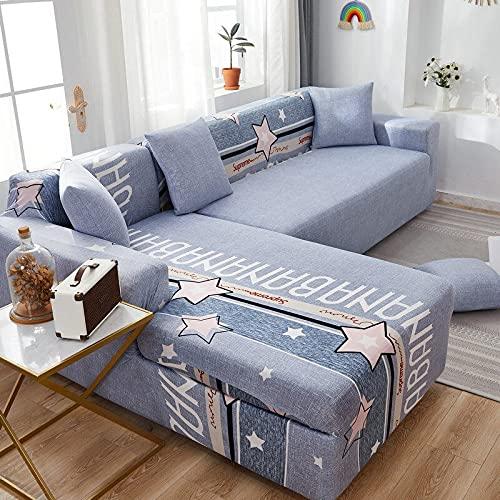 PPOS Fundas de sofá de Esquina para línea sofá Funda de sofá elástica en Forma de l Chaise Longue Fundas de sofá undefined 1-2-3-4 Funda de cojín de Asiento C20 3 Asientos 190-230cm-1pc