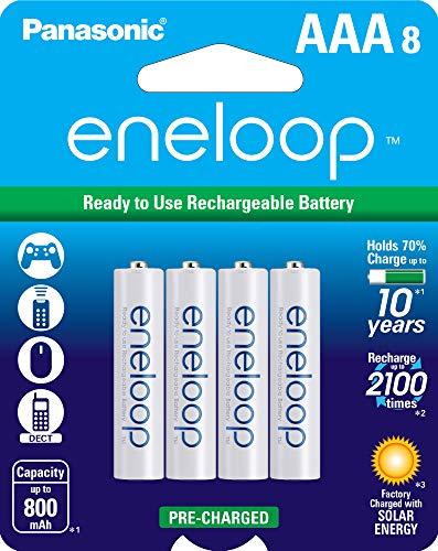 Panasonic BK-4MCCA8BA eneloop AAA 2100 Cycle Ni-MH Pre-Charged Rechargeable Batteries