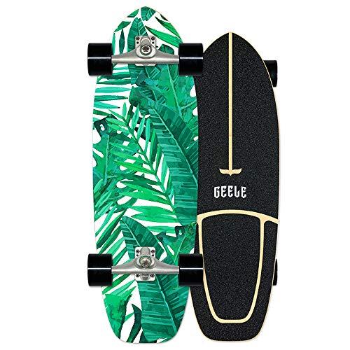WRISCG Surfskate Carving Skateboard Komplettboard 78×24cm, 7-lagiges Ahornholz, High Speed ABEC-11 Kugellagern, für Kinder Jungendliche und Erwachsene, Pumpping Carving Cruising Freestyle Freeride,C