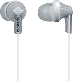 Panasonic ErgoFit In-Ear Earbud Headphones RP-HJE120-S (Silver) Dynamic Crystal Clear Sound, Ergonomic Comfort-Fit