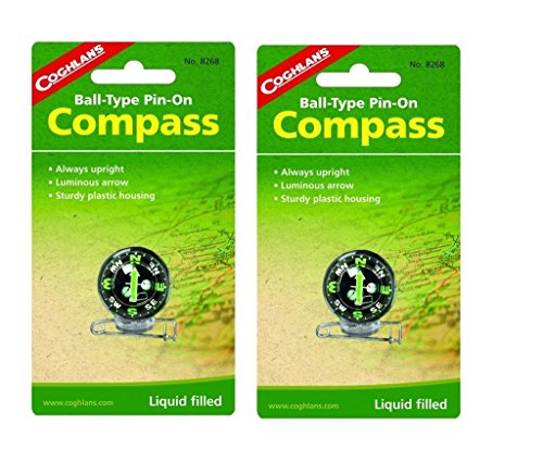 Coghlan's 8268 Pin-On Compass Set of 2