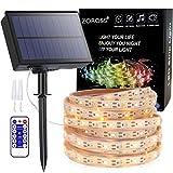 Tira LED Solar,Luces Exterior Solar Jardin 16.4ft 8 Modos Luces Led Solares Exteriores de Luces Decoracion para Navidad,Terraza,Fiestas,Bodas,Patio,Jardines[Clase de eficiencia energética A+++]