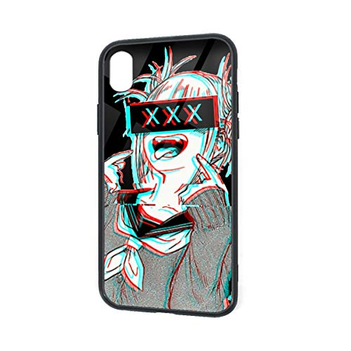 GekhHaon My Hero Academia-Himiko Toga iPhone XR TPU Glass Phone Case Custom Phone Case