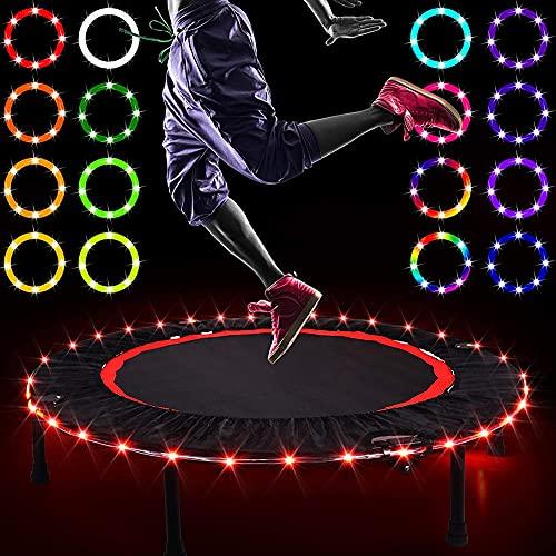 Luces LED para Trampolín Luces De Escenario Bola De Trampolín para Deportes Luz De Fiesta De 16 Colores con Control Remoto,para Autos, Habitaciones,Fiestas,Cumpleaños,Baile,10 Meters with 100 Lights