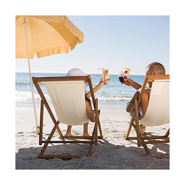 Relaxdays Rasendorn Estribo sombrilla, Mango, Grosor de la Barra hasta 38 mm, para jardín, césped, Playa, paragüero de Acero, Bronce, marrón