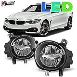 Winjet Compatible with [BMW 2/3/4 Series 320i 328i 335i 340i 428i 430i 435i 440i] Driving LED Fog Lights