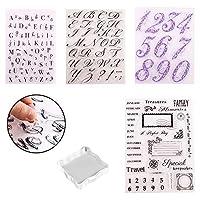 アルファベットケーキスタンプツール アルファベット&数字 フォンダン ケーキ型 DIY クッキーカッター ハンドメイド ビスケット ベーキングツール カード スクラップブック作成 デコレーション 5個セット